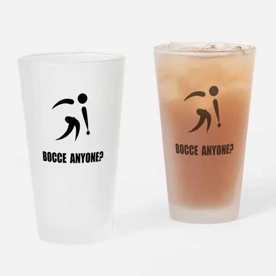 Bocce Anyone Drinking Glass