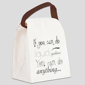Eyeliner Canvas Lunch Bag