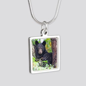 Bear Cub relaxing in Tree Necklaces