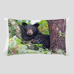 Bear Cub relaxing in Tree Pillow Case