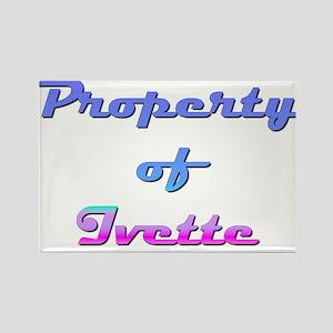 Property Of Ivette Female Rectangle Magnet