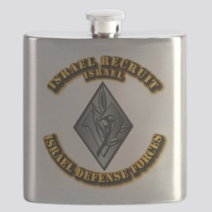 Israel - Obsolete Recruit Hat Badge Flask