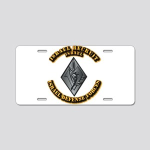 Israel - Obsolete Recruit H Aluminum License Plate