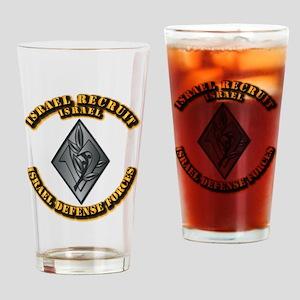 Israel - Obsolete Recruit Hat Badge Drinking Glass