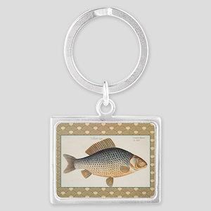 Vintage Carp Freshwater Fish Drawing Keychains