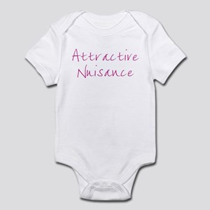 Attractive Nuisance (Pink) Infant Bodysuit