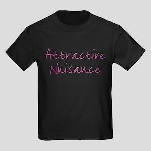 Attractive Nuisance (Pink) Kids Dark T-Shirt