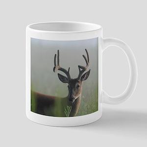 8 Point Buck in Early Morning Fog Mugs