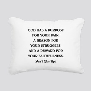 GOD HAS A... Rectangular Canvas Pillow