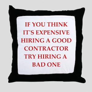contractor Throw Pillow