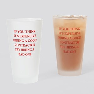 contractor Drinking Glass