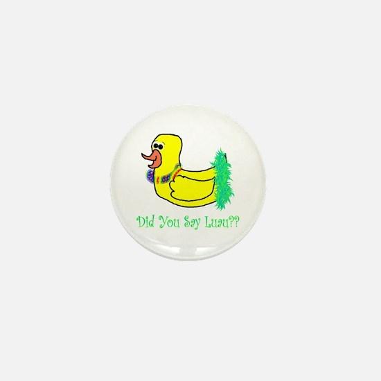 duckie luau Mini Button