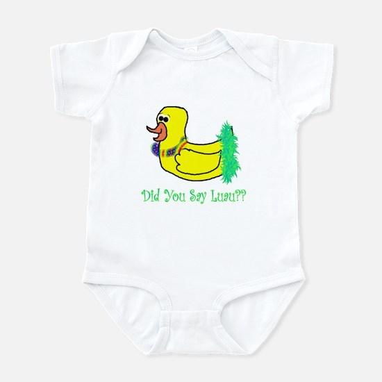 duckie luau Infant Bodysuit