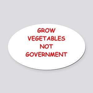 small government Oval Car Magnet