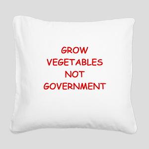 small government Square Canvas Pillow