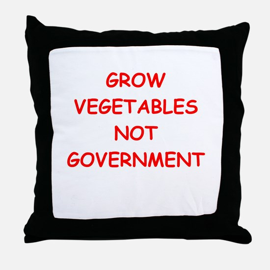 small government Throw Pillow