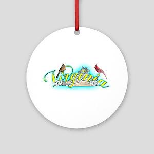 Virginia Ornament (Round)