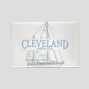 Cleveland sailing - Rectangle Magnet