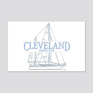 Cleveland sailing - Mini Poster Print