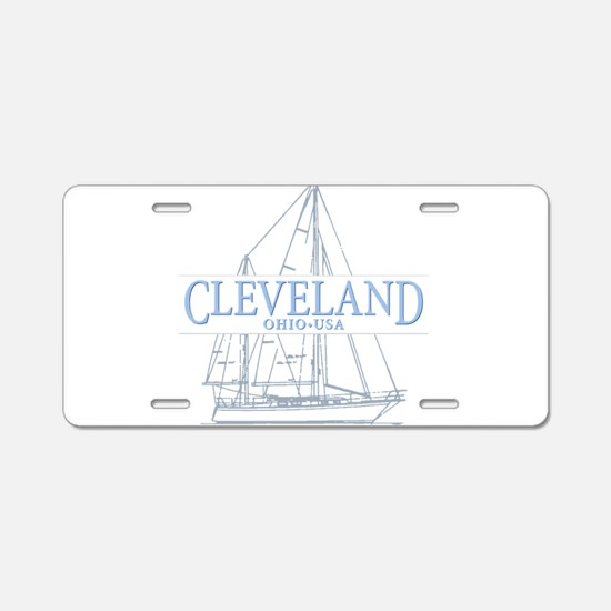Cleveland sailing - Aluminum License Plate