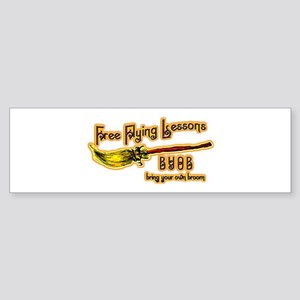 Broom Lessons Bumper Sticker