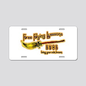 Broom Lessons Aluminum License Plate