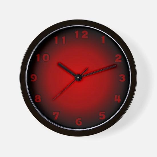 Unique Kitchen black red Wall Clock