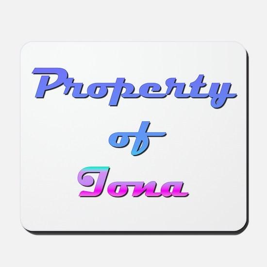 Property Of Iona Female Mousepad