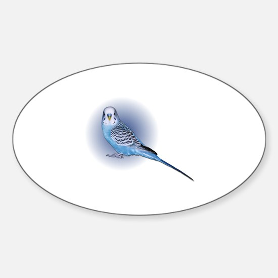 blue budgie Decal