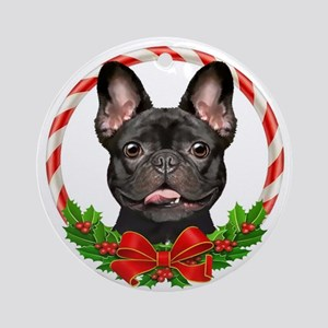 Brindle French Bulldog Ornament (Round)