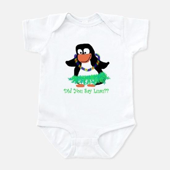 penguin luau Infant Bodysuit