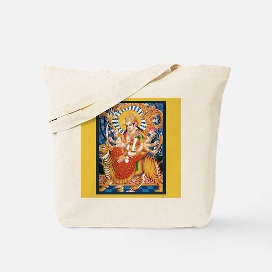 DURGA Hindu Deity Shakti Tote Bag