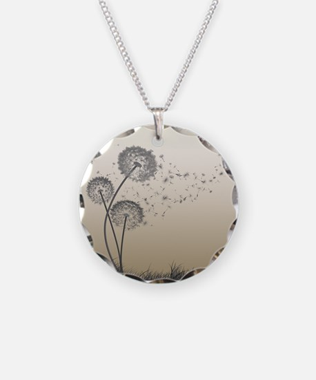 Cute Dandelion seeds blowing in the wind Necklace