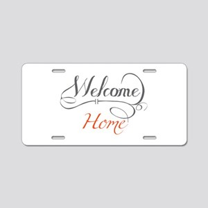 Welcome Home Aluminum License Plate