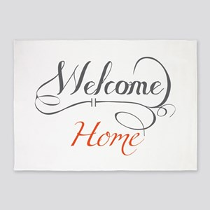 Welcome Home 5'x7'Area Rug