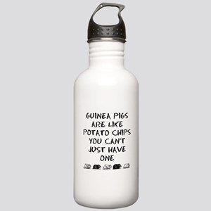 Guinea Pigs Are Like Potato Chips Water Bottle