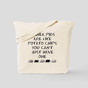 Guinea Pigs Are Like Potato Chips Tote Bag