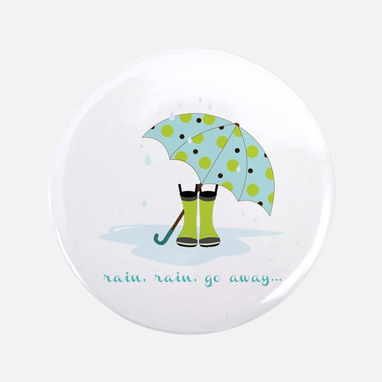 "Rain Rain Go Away... 3.5"" Button"