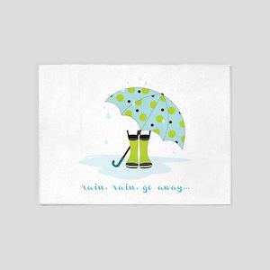 Rain Rain Go Away... 5'x7'Area Rug