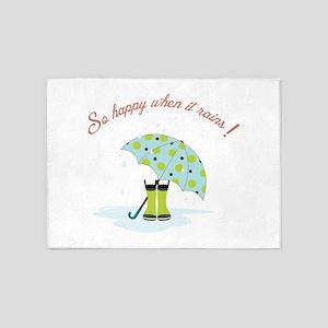 So Happy When It Rains! 5'x7'Area Rug