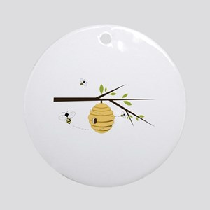 Beehive Ornament (Round)