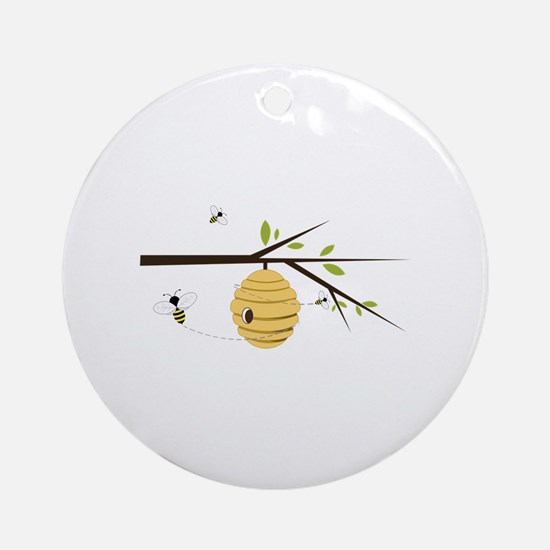 Beehive Ornament (Round)