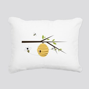 Beehive Rectangular Canvas Pillow