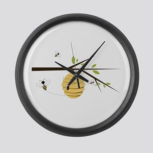 Beehive Large Wall Clock