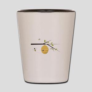 Beehive Shot Glass