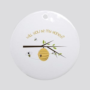 Will You Be My Honey? Ornament (Round)