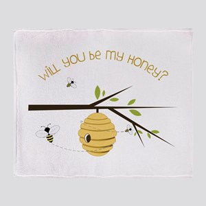 Will You Be My Honey? Throw Blanket