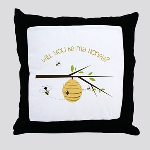 Will You Be My Honey? Throw Pillow