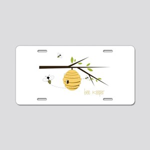 Bee Keeper Aluminum License Plate