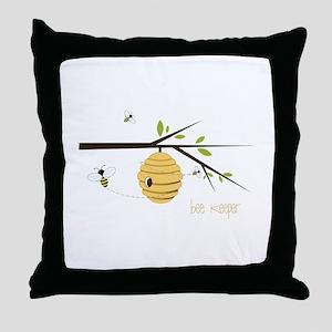 Bee Keeper Throw Pillow